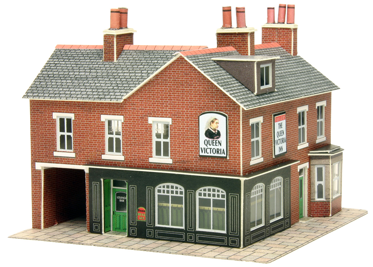 N gauge town country railway kits corner shop pub in for Model homes to build