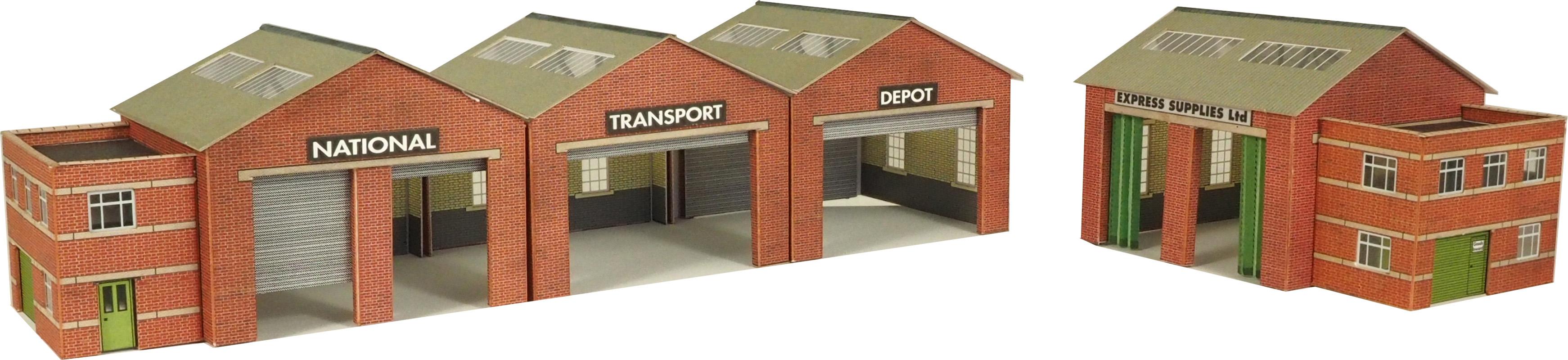 N Gauge Industrial Railway Kits Bus Garage