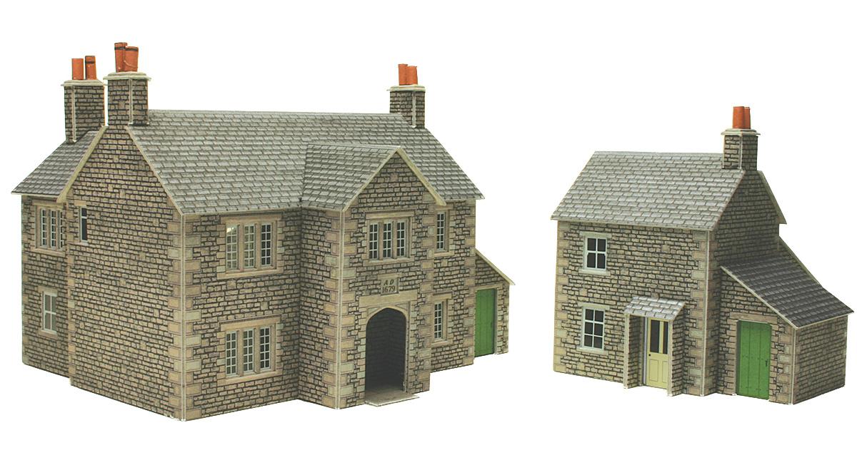 00 gauge town country railway kits manor farm house for Farm house model