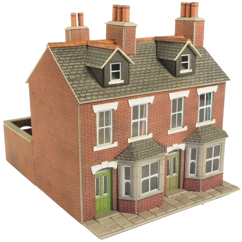 00 gauge town country railway kits 00 h0 terraced for Brick kit homes