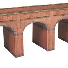 PN140 N Scale Red Brick Viaduct